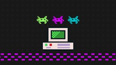 Build an 8-bit website using Bootstrap and Javascript.