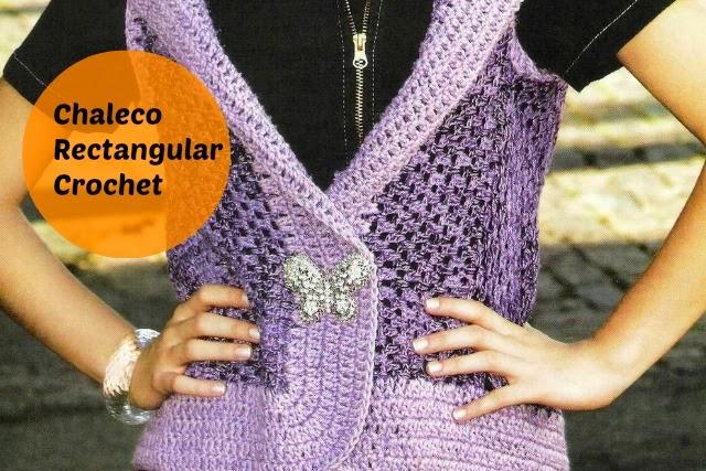 Chaleco Rectangular-Recto Crochet