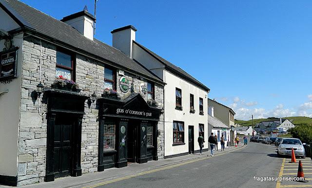 Gus O'Connor's Pub, no vilarejo de Doolin, próximo aos Cliffs of Moher
