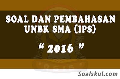 Download Soal dan Pembahasan UNBK SMA 2016 (IPS)