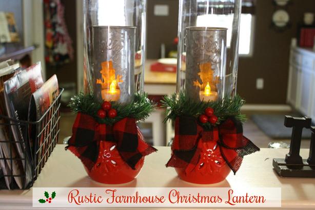 Dollar Tree Rustic Christmas Lanterns