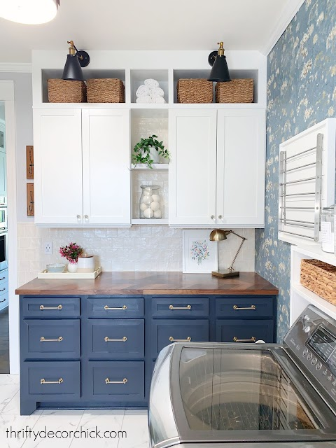 DIY shaker front cabinets white uppers