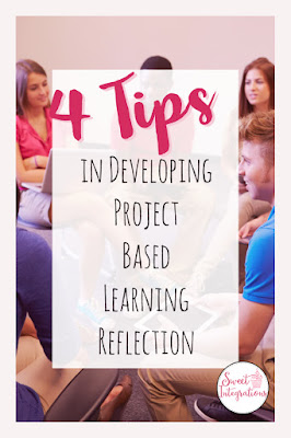 Four Tips for Developing Project Based Learning Reflection - Help your upper elementary and middle school students learn how to reflect during their next PBL project. You'll get great ideas you can implement immediately, as well as a book suggestion to learn more about the process. And there are also great technology tips, tools, apps, websites, and more. {second, third, fourth, fifth, sixth, seventh, eighth grader approved!}