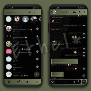 Green Gradient Dark Theme For YOWhatsApp & Fouad WhatsApp By Ethel