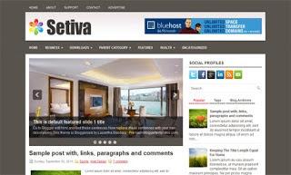 Setiva Blogger Template