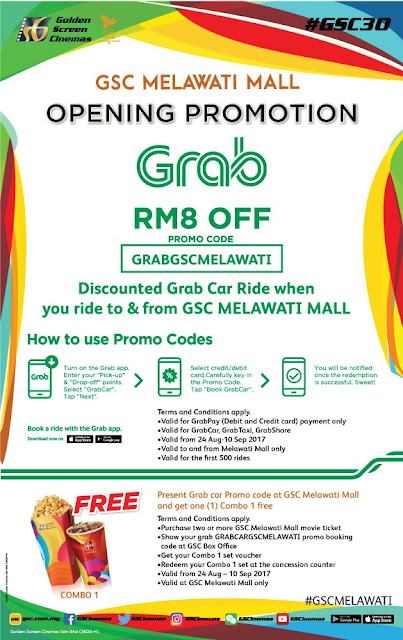 Grab Promo Code GSC Melawati Mall Opening Promo