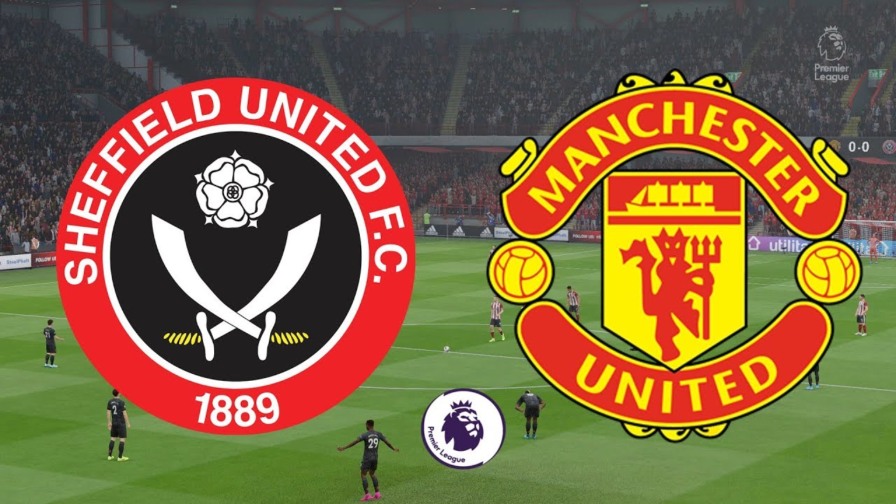 What channel is the match between Sheffield United vs Manchester United in the Premier League