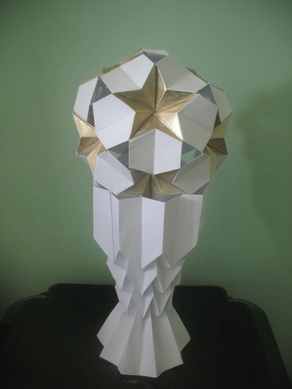 Paper Trophy Interferente: Origami :world Cup Trophy