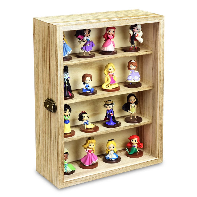 Wall Mounted Collectible Display Case Shadow Box with a Lock and Key from Nile Corp