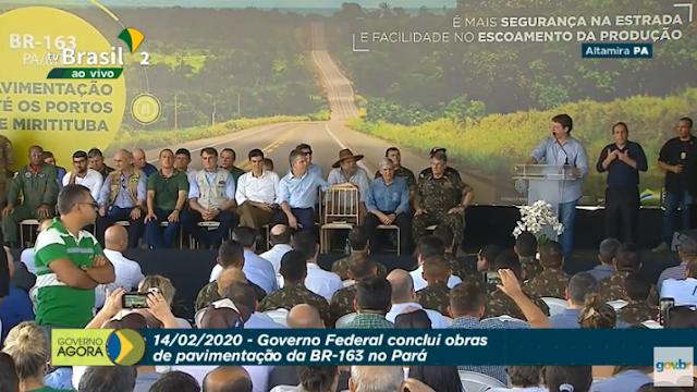 PAVIMENTAÇÃO DA BR-163 NO PARÁ.