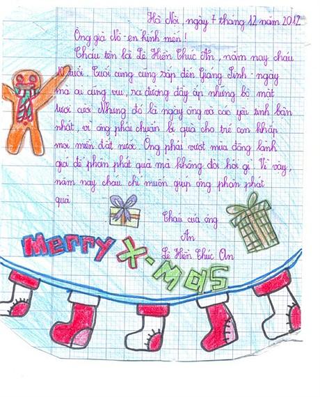 Lá thư hài hước gửi ông già Noel