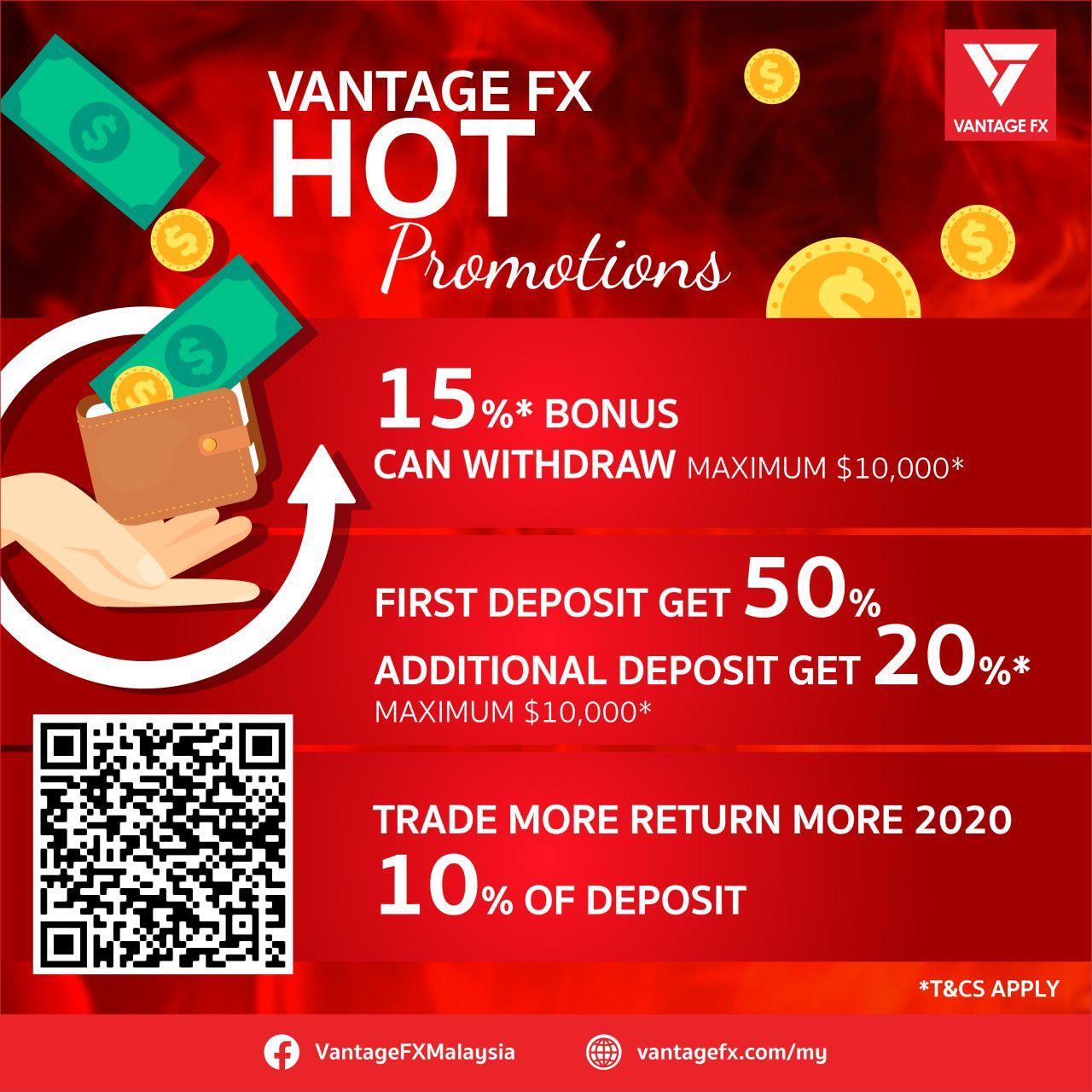 Vantage FX 50% Deposit Bonus - Deposit $50 Get Bonus $25