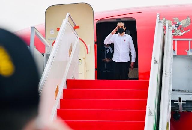 Berkunjung ke Jawa Timur, Presiden Tinjau Vaksinasi dan Resmikan Bendungan