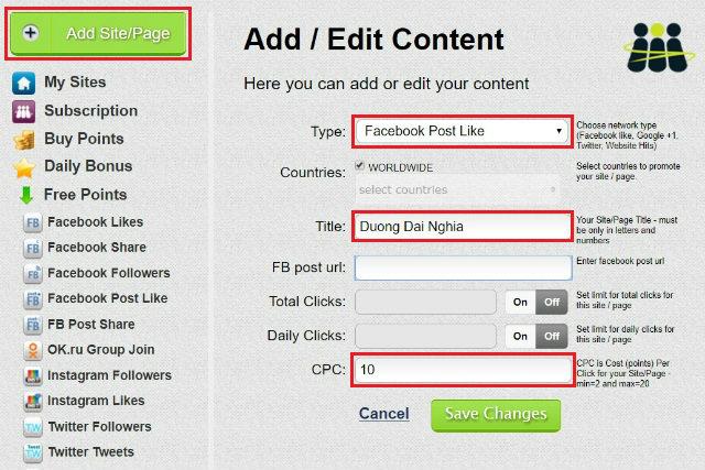 Cách tăng like facebook đơn giản miễn phí 3