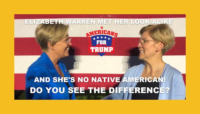 Memes: ELIZABETH WARREN MET HER LOOK-ALIKE