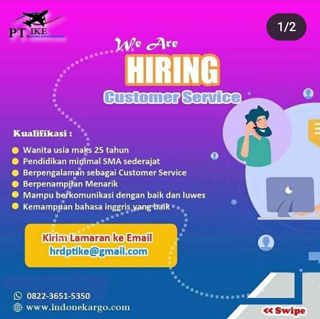 Lowongan sebagai Customer Service di PT Indone Kargo Ekspress Medan
