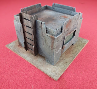 A terrain piece for Judge Dredd miniatures game