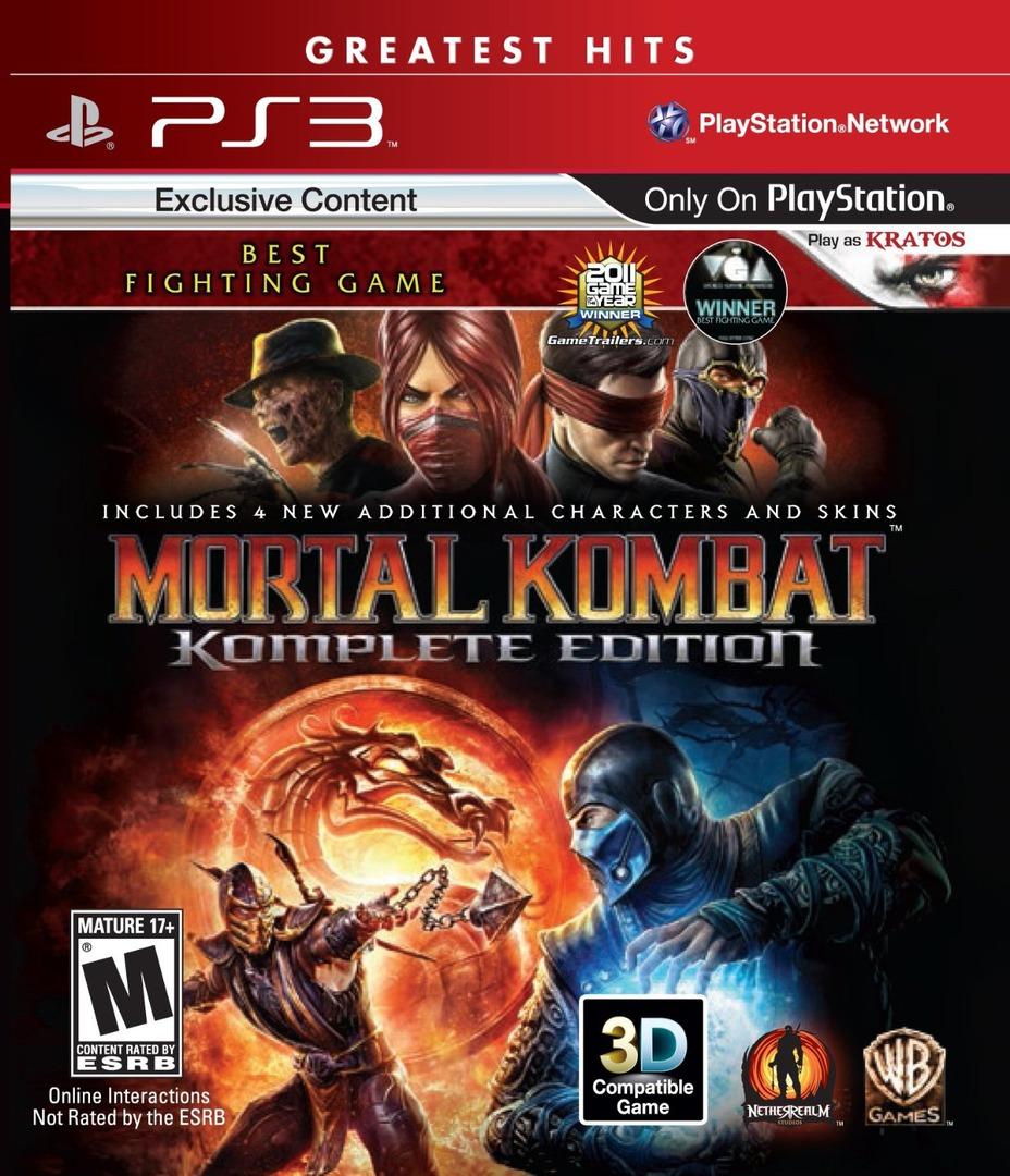 Mortal Kombat Komplete Edition PS3 ISO