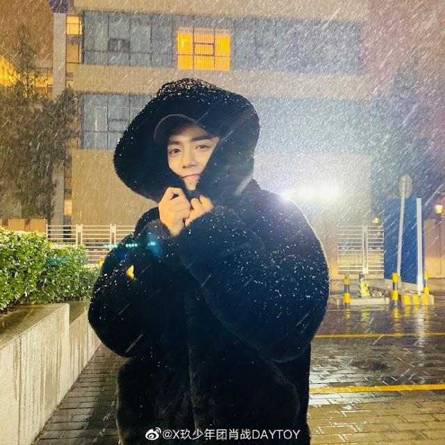 xiao zhan  first snow