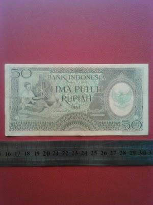 50 rupiah tahun 1964