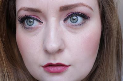 burberry cat lash mascara on eyelashes