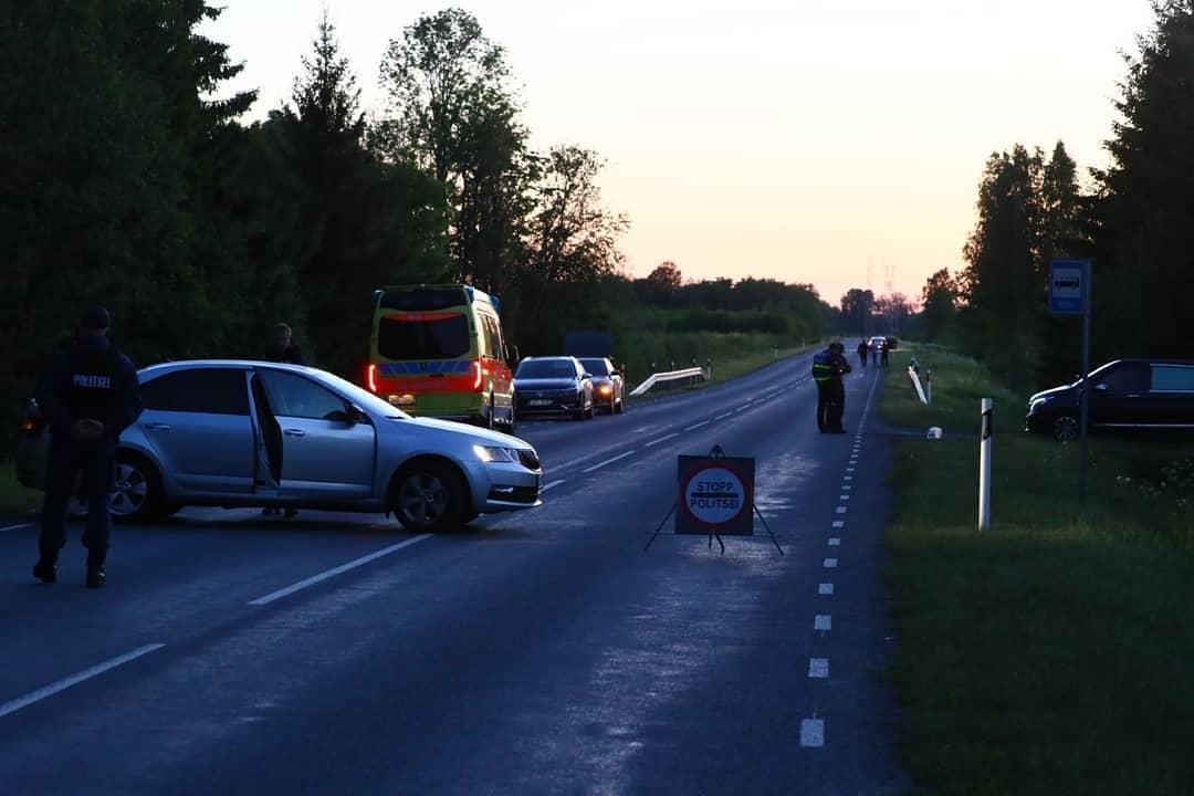 Policija blokāde uz ceļa