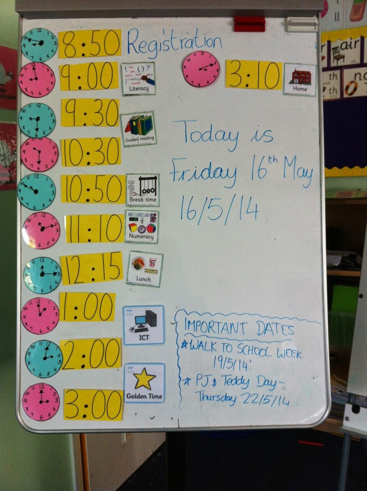 Visual Timetable Irish Primary Teacher