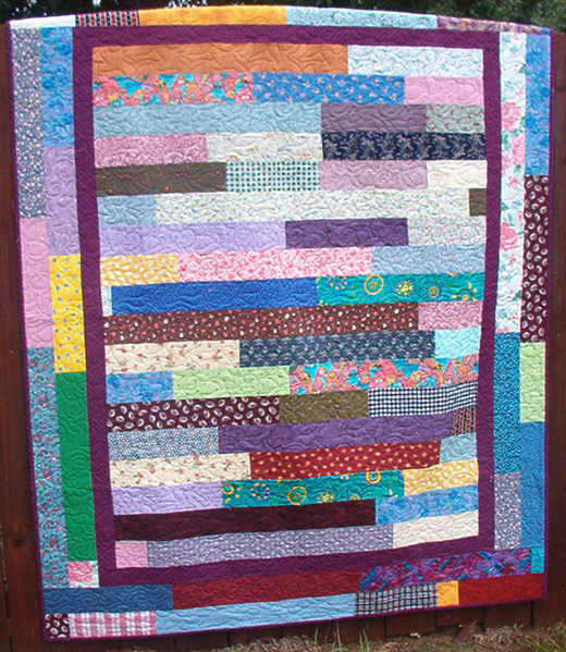 Simply Strippy Quilt Designed by Bonnie K. Hunter from Quiltville