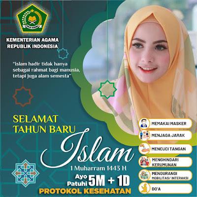 Download Link 25+ Twibbon 1 Muharram 1443 H/ Tahun Baru Islam 2021, 10 Agustus 2021