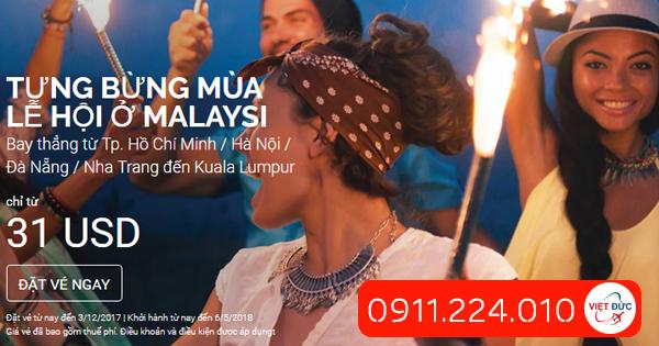 Tưng bừng mùa lễ hội ở Malaysia giá 31 usd