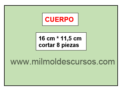 MOLDE DEL CUERPO DE BANDOLERA en MIL MOLDES