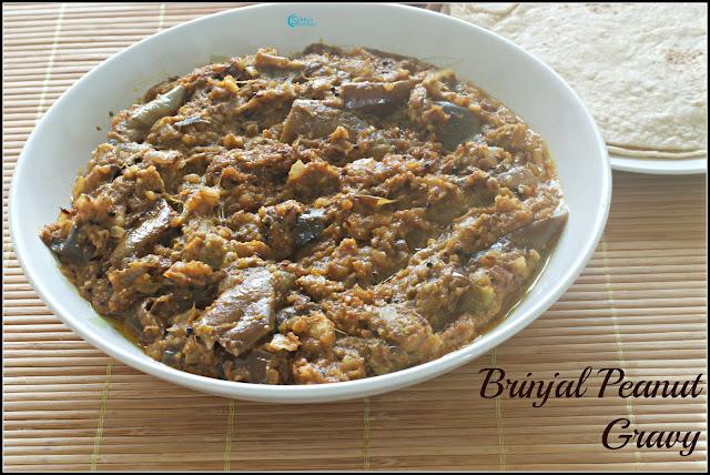 Brinjal Peanut Curry Recipe | Brinjal in Peanut Gravy Recipe