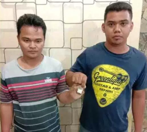 Dua tersangka narkoba di Asahan.