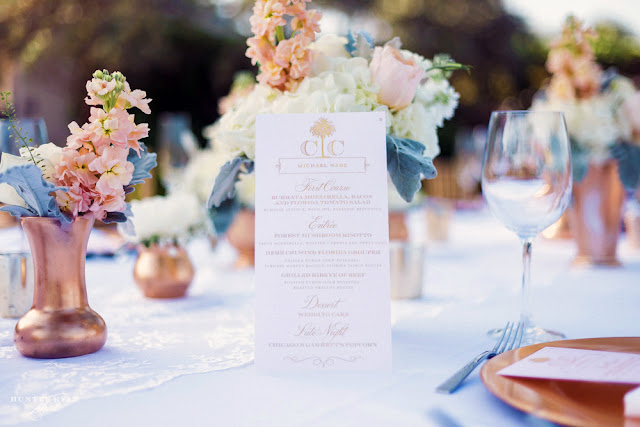 Monogrammed Wedding Menu