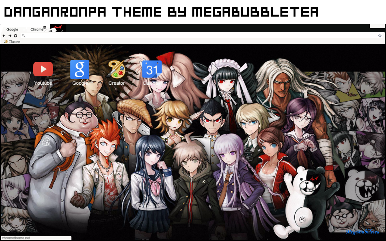 Chrome Theme Danganronpa My Bubbletea Time