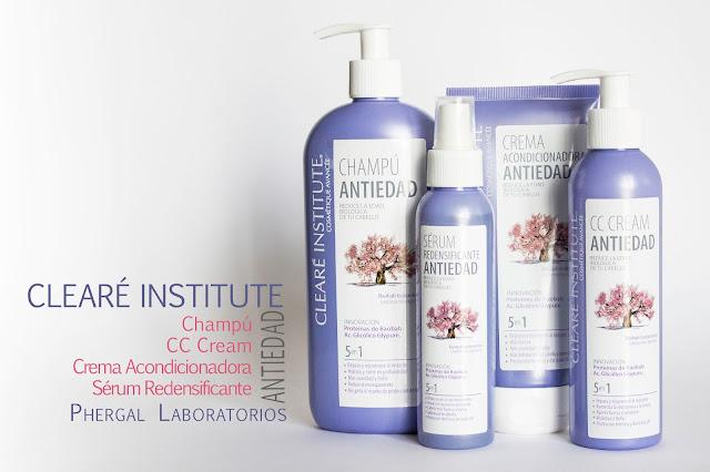 Gama Antiedad para el cabello de Clearé Institute (Phergal Laboratorios).