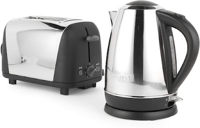 A toaster and a kettle