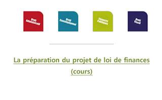 La préparation du projet de loi de finances  (cours) PDF