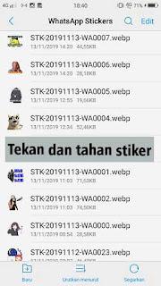 Cara Mudah Membagikan Stiker Dari Whatsapp Ke Status Whatsapp