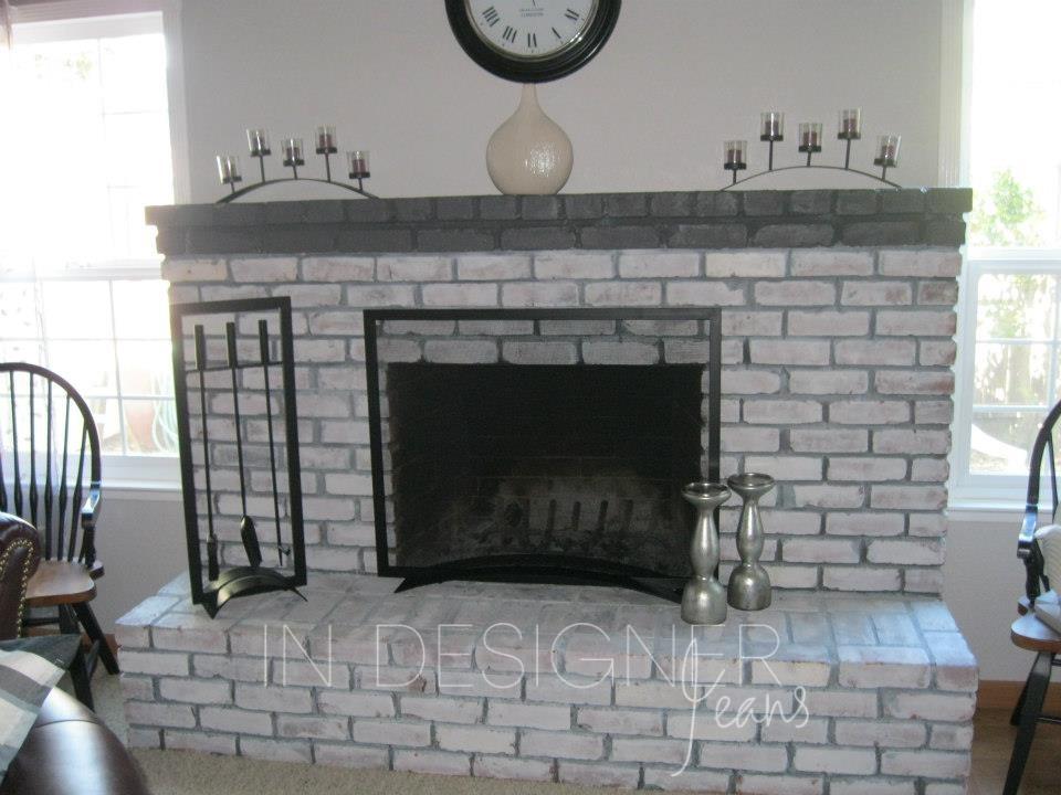 In Designer Jeans: Brick Fireplace Makeover!