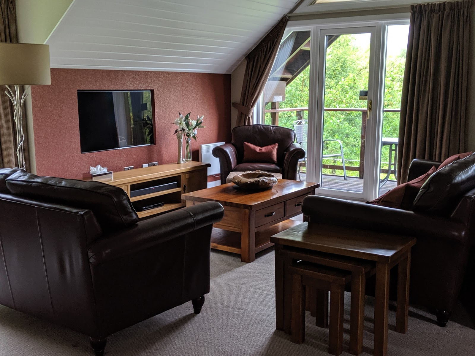 A Short Break at Cameron Lodges, Loch Lomond - lodge 116 living area
