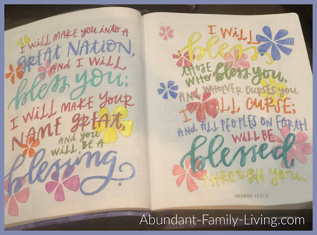 Beautiful Work Coloring Bible Completed Page - Sample Pages