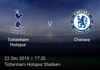 LIVE MATCH: Tottenham Hotspur Vs Chelsea Premier League 22/12/2019