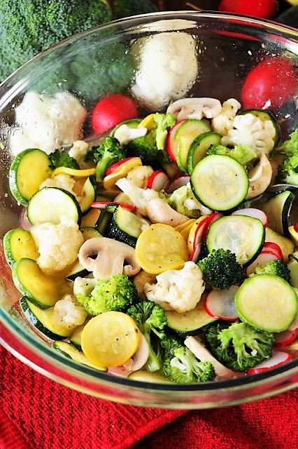 Marinated Summer Vegetable Salad with Zucchini and Summer Squash Image