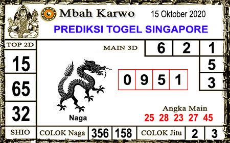 Pred Mbah Karwo SGP 45 Kamis 15 Oktober 2020