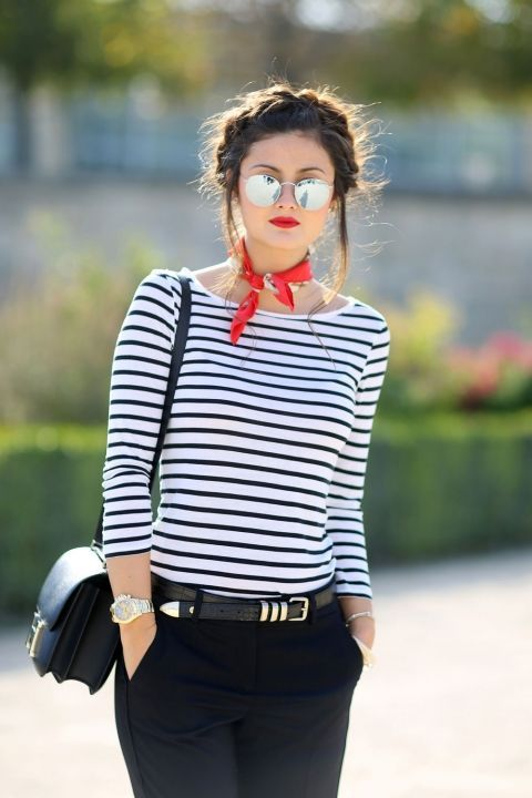 navy style stile marinaro outfit stile marinaro tendenze estate 2020 maglia a righe colorblockbyfelym mariafeliciamagno fashion blogger fashion blogger italiane
