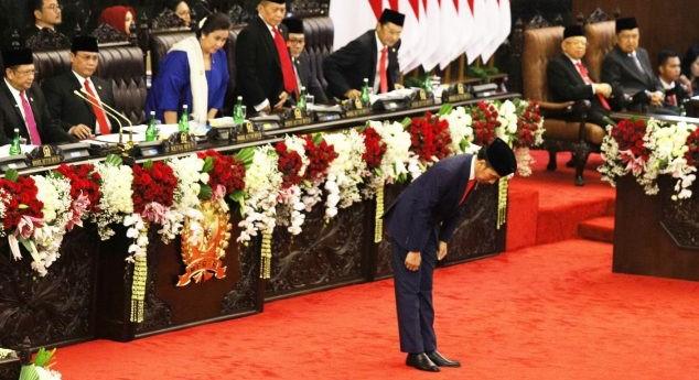 Naskah Pidato Lengkap Jokowi Usai Dilantik Jadi Presiden, Pemberantasan Korupsi dan Hukum Tak Disinggung