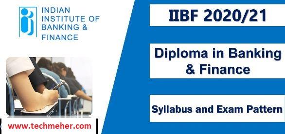 IIBF Exam Questions 2021, IIBF Exam Syllabus for BC in Hindi PDF, IIBF Syllabus 2021,