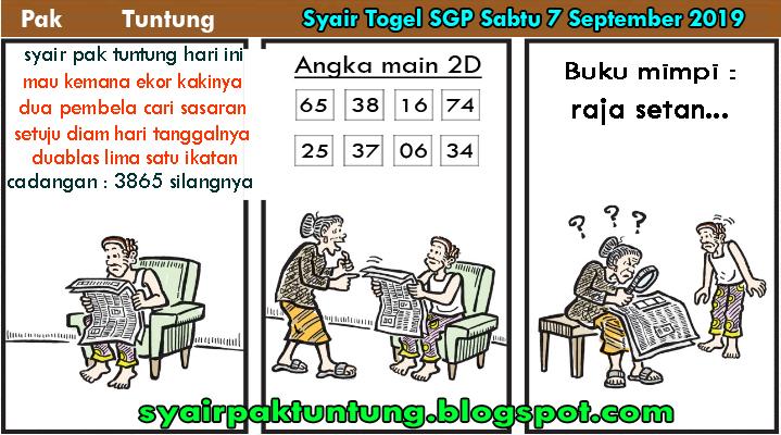 Syair Pak Tuntung Togel Sgp Sabtu 7 September 2019 Syair