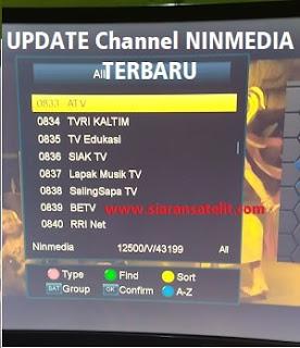 Update Transponder dan Chanel Ninmedia Terbaru